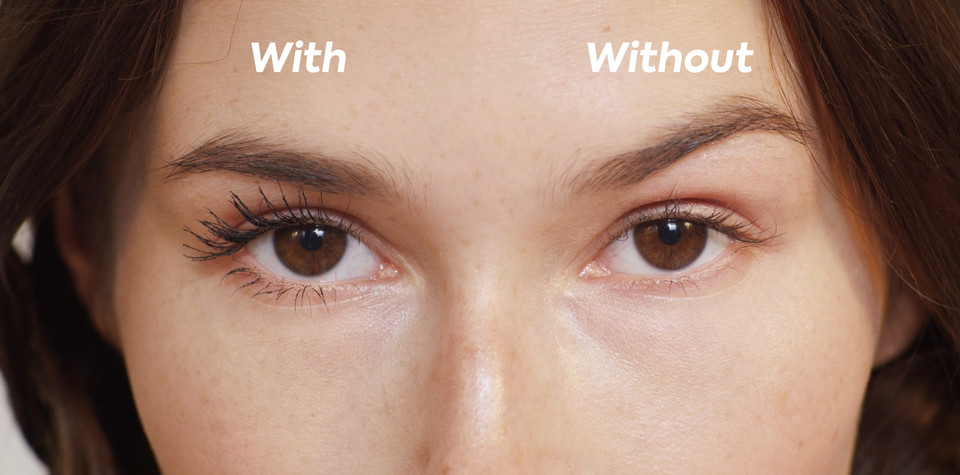 Ilia Limitless Lash Mascara After Midnight with and without SIRO Cosmetic