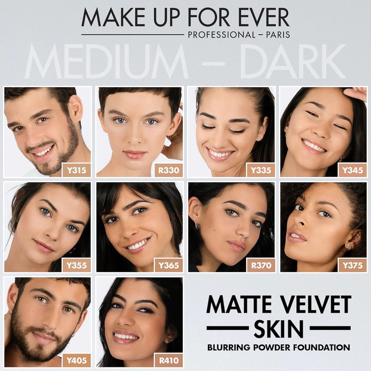 Phấn nền Matte Velvet Skin Blurring Powder Foundation của MAKE UP FOR EVER 2