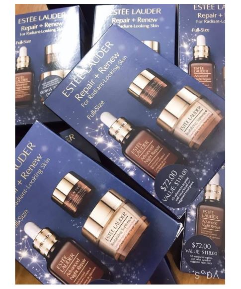 Set duong da Estee Lauder Repair Renew For Radiant Looking Skin 2 SIRO Cosmetic