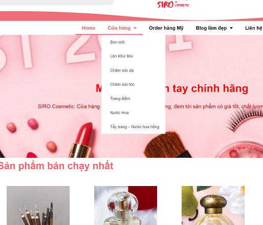 danh mục sản phẩm siro.vn